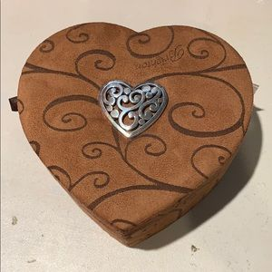 Brighton Heart crushed velvet jewelry box